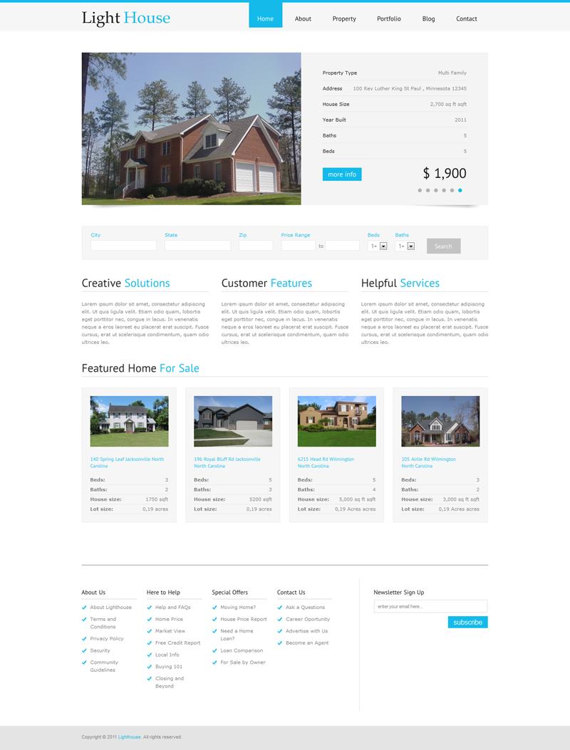 Lighthouse Real Estate WordPress Theme