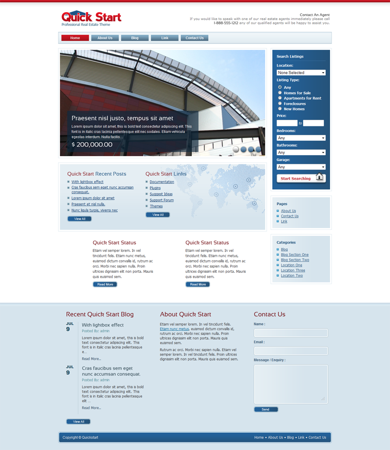 QuickStart Real Estate WordPress Theme