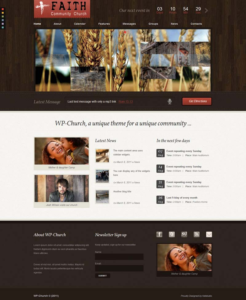 WP Church WordPress Theme for Church