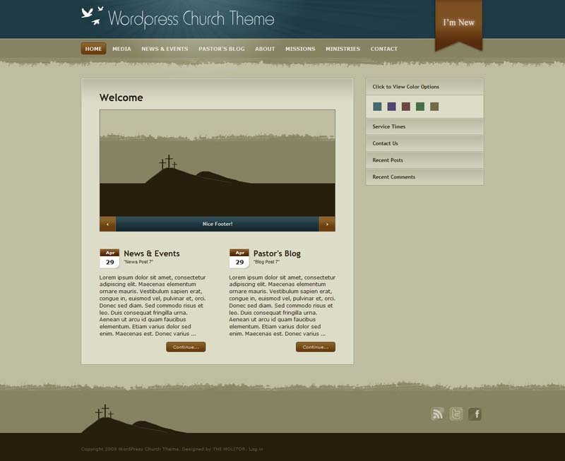 WordPress Church WordPress Theme for Church