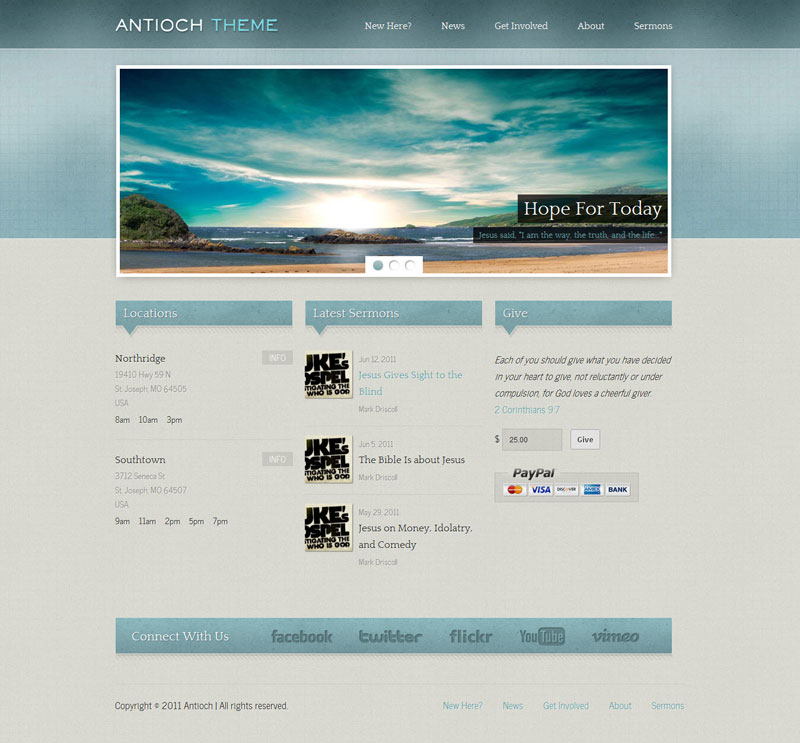 Antioch WordPress Theme for Church