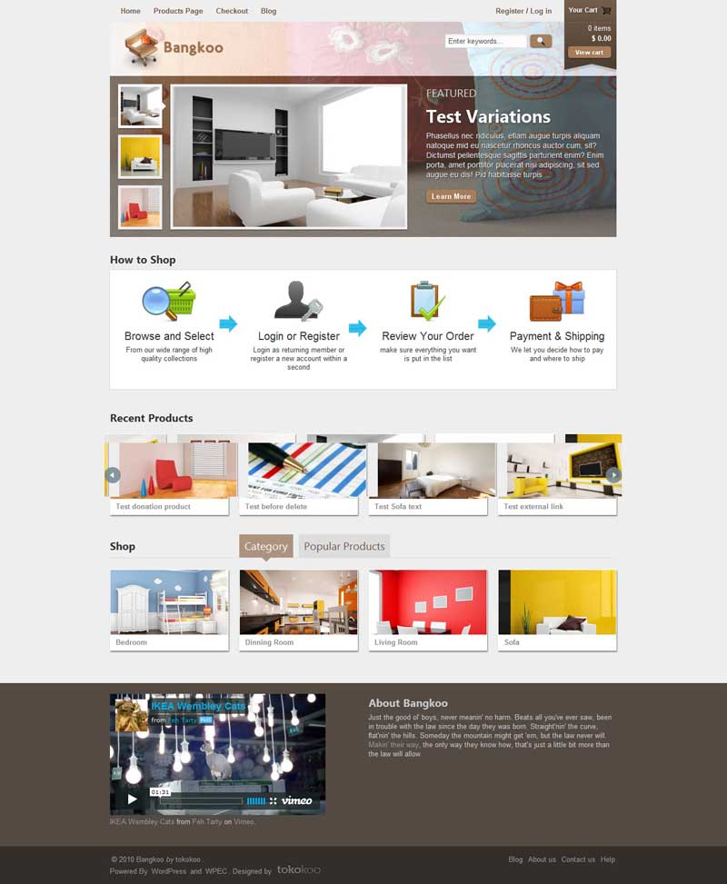 bangkoo wordpress ecommerce theme