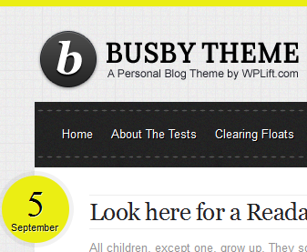 Busby theme color scheme