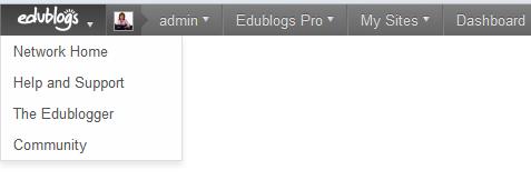WPMU DEV Custom Admin Bar configured for Edublogs