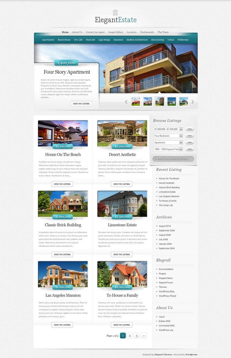 Elegant Estate Real Estate WordPress Theme