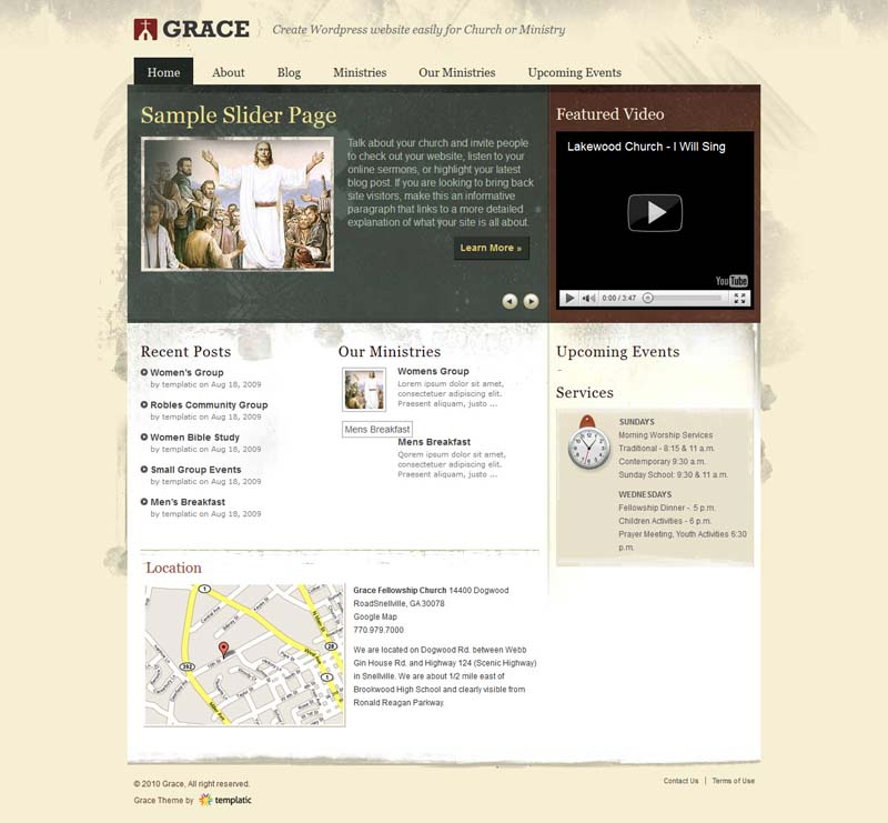 Grace WordPress Theme for Church