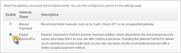 choose your payment gateway