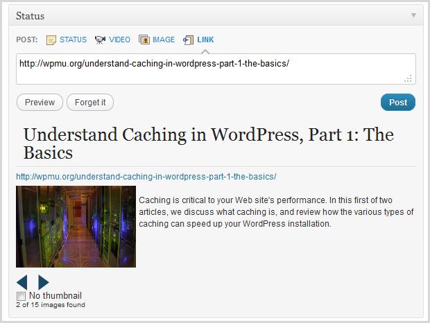 Quick status link parsing