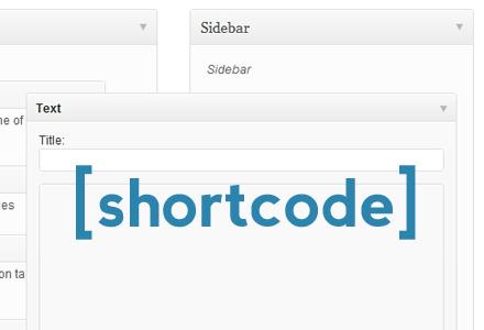 shortcode-widget
