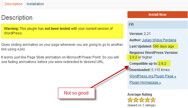 this plugin is only compatible up to WordPress 2.8