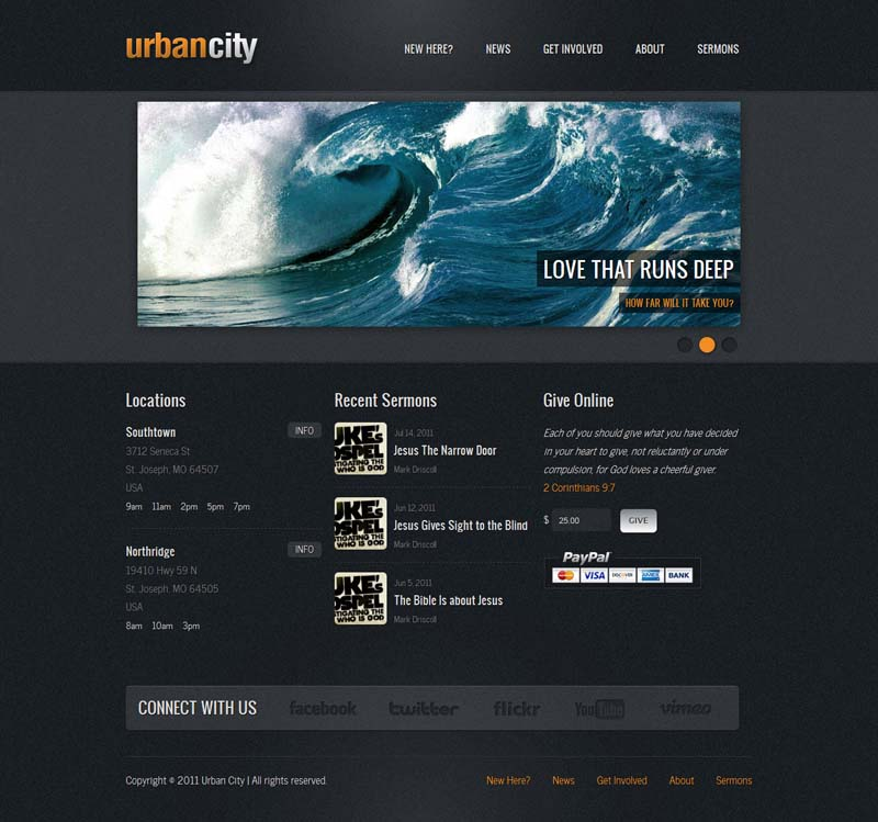 Urban City WordPress Theme for Church