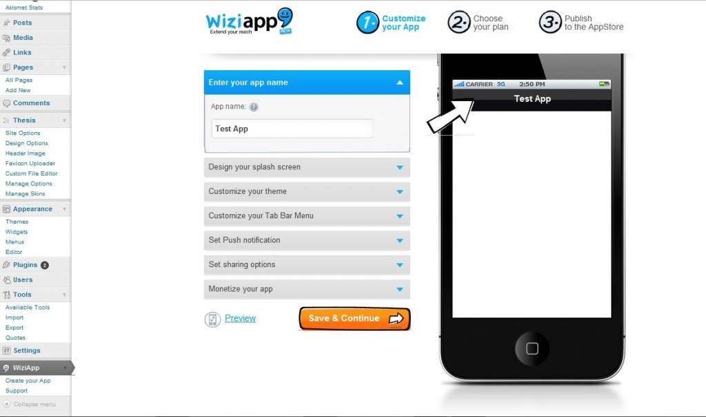 WiziApp plugin for WordPress