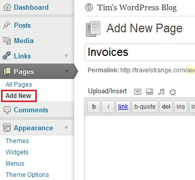 Send invoices from WordPress