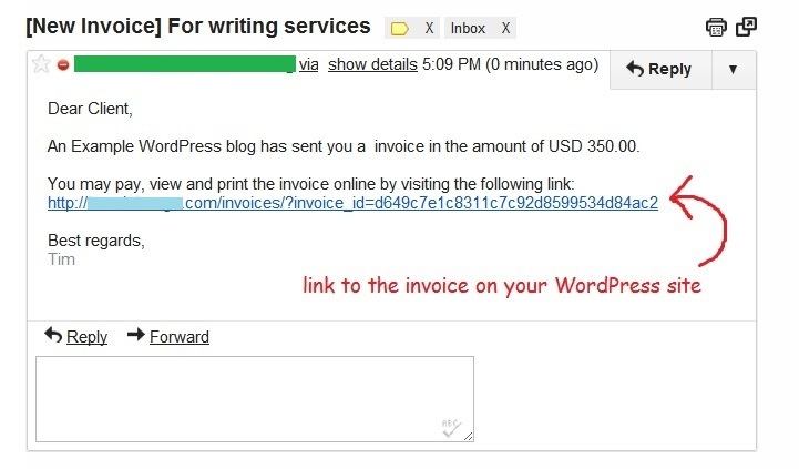 Send email invoices from WordPress