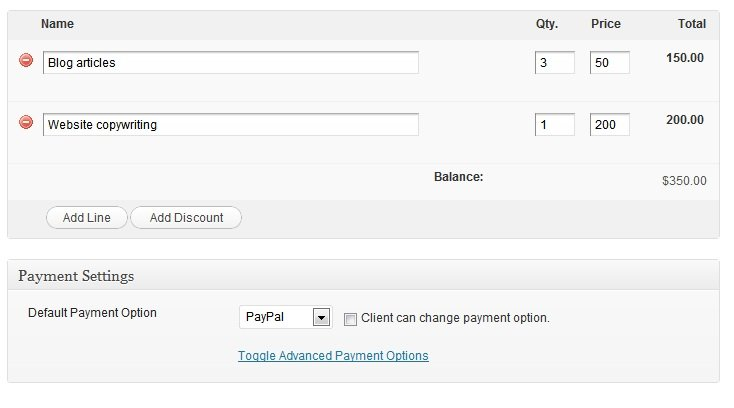 WordPress as an invoicing system