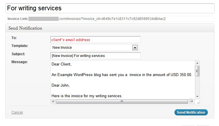 Invoicing with WordPress