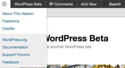 WordPress 3.3 admin bar