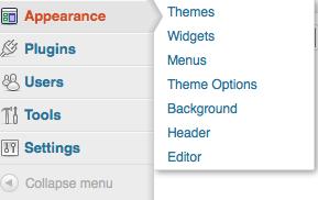 WordPress 3.3 Flyout menu