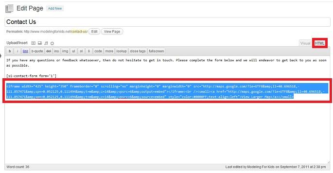 Embedding Google Maps Code Into Your Blog