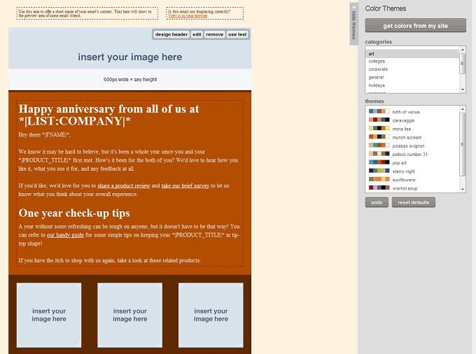 MailChimp Campaign Builder