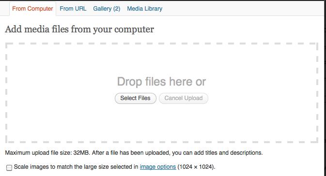 WordPress 3.3 Plupload media uploader
