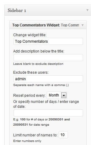 Show who are your top commenters in WordPress