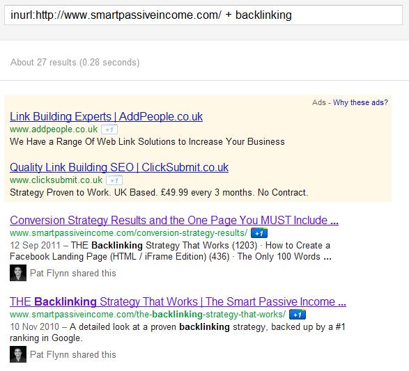 Backlinking Google Search