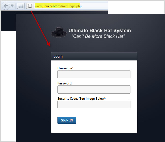 the link leads to a black hat seo page