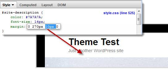 the site description margin has been reduced