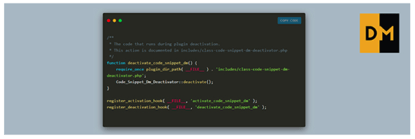 Code Snippet DM WordPress Plugin Screenshot