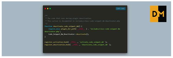 Code Snippet DM WordPress Plugin Screenshot
