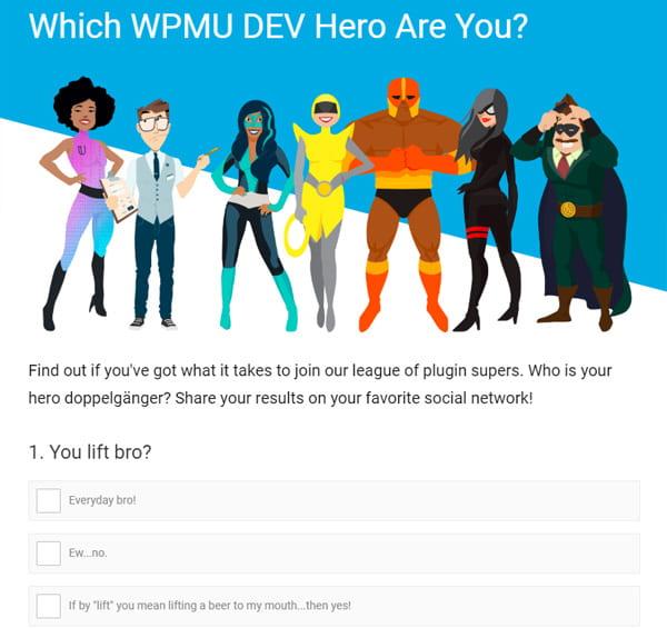 The WPMU DEVman Quiz Screenshot
