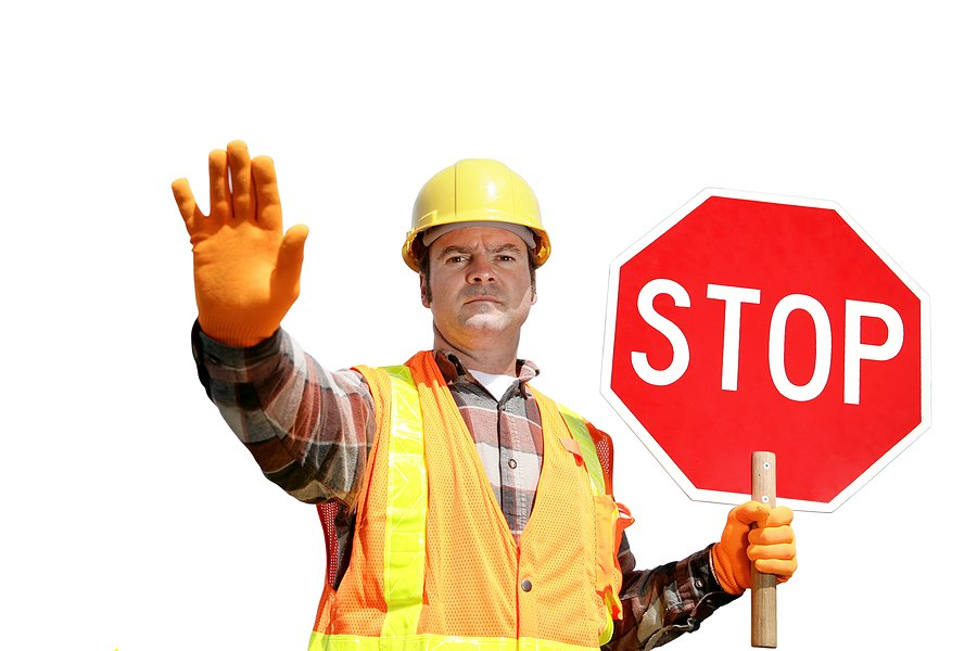 Image result for construction stop sign holder