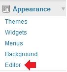 Remove the theme editor submenu from WordPress