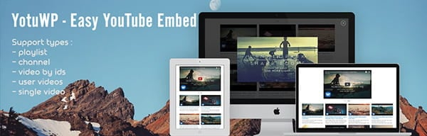 YotuWP WordPress plugin to embed video galleries