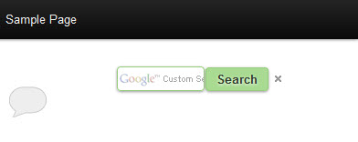the sidebar search widget with a green button