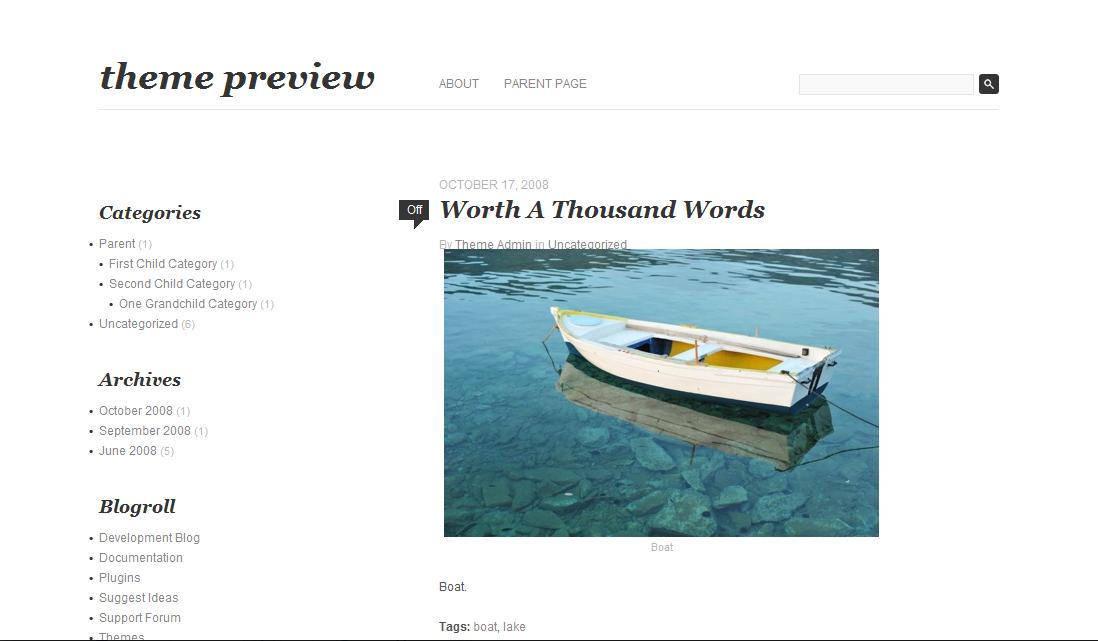 Minimalist WordPress Theme: Fifty Fifth Street
