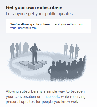 Let people subscribe to your public Facebook updates