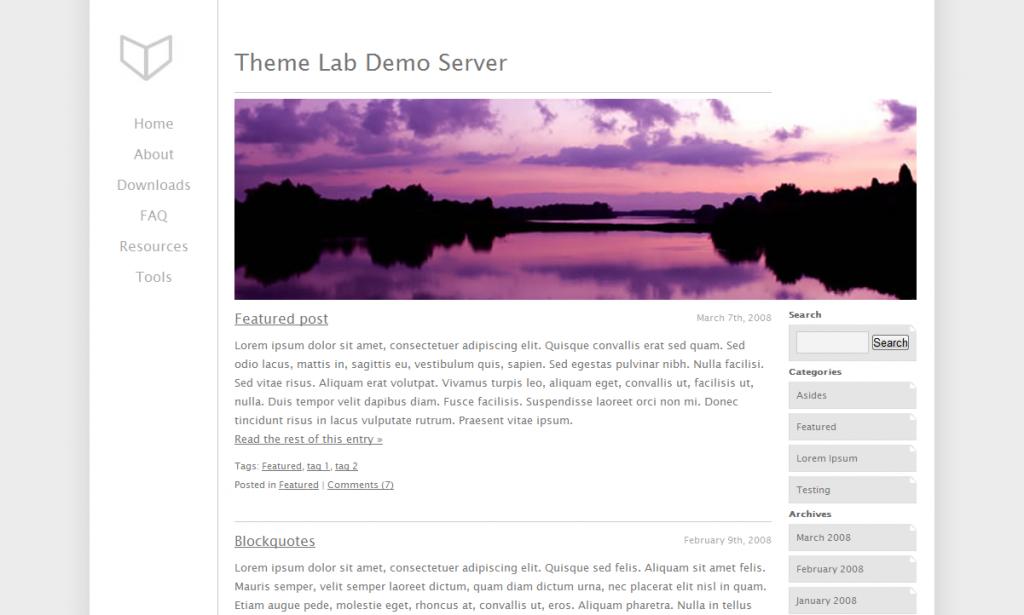 A minimalist WordPress theme called Just Lucid
