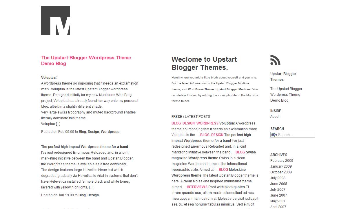 Download the Modicus WordPress Theme