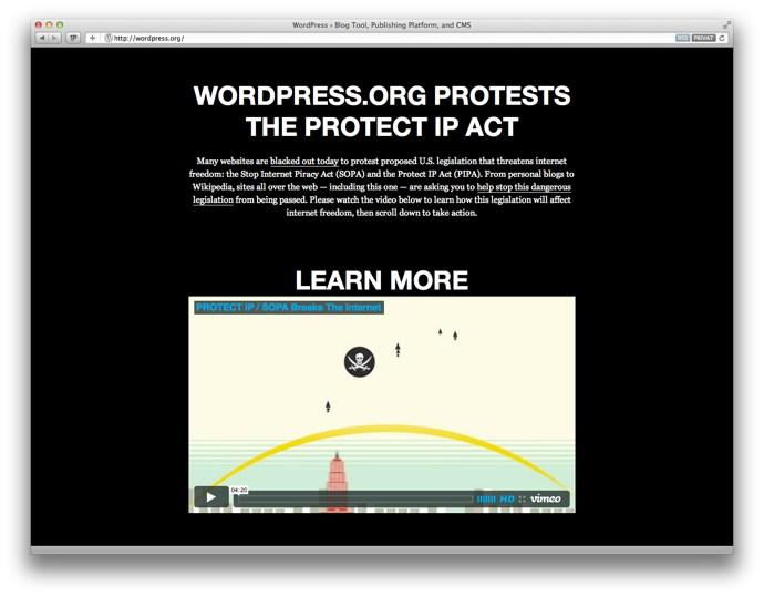 wordpress.org blackout
