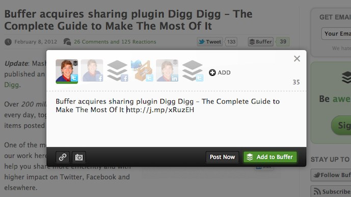 Digg Digg Gets A Facelift! The Buffer Boys Are On Board ...