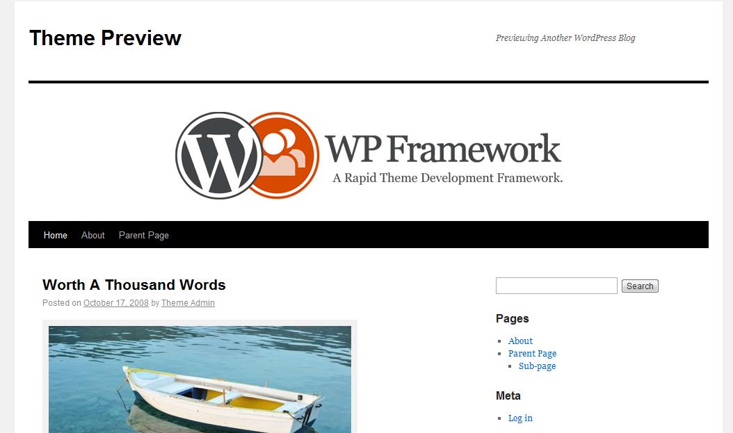 Thesis theme framework v1.8.2 wp