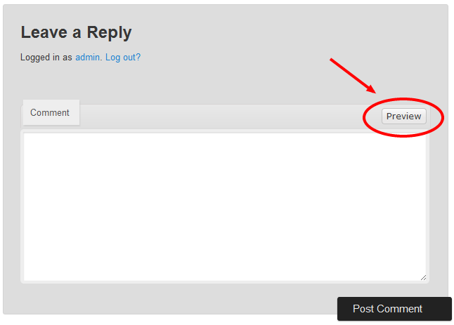 Preview comments on your WordPress site