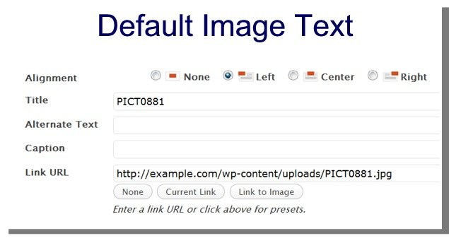 WordPress turns the image file name to title by default.