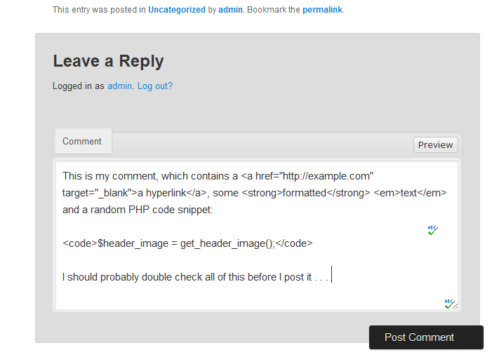 Use jQuery to preview the comments on your WordPress site
