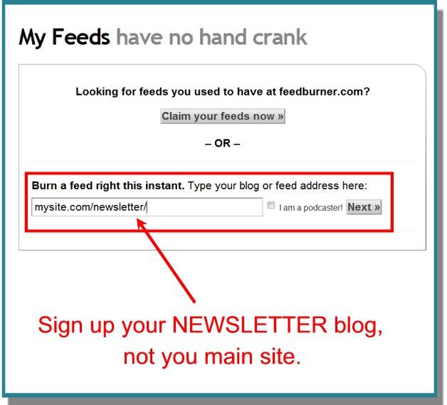 Sign Up With Feedburner
