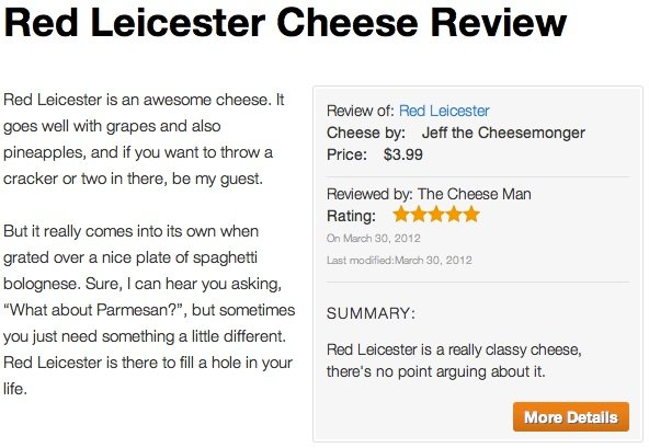 Cheese Review
