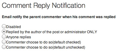 Comment Reply Notification