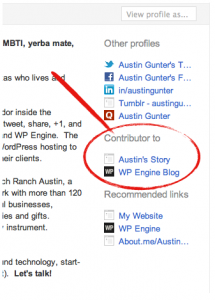 How to link your Google+ profile to blogs you contribute to